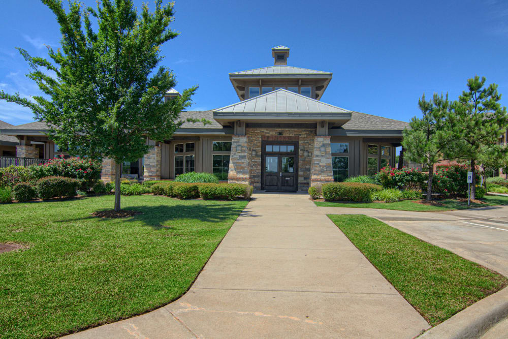 Beautiful contemporary exterior at Tradan Heights in Stillwater, Oklahoma