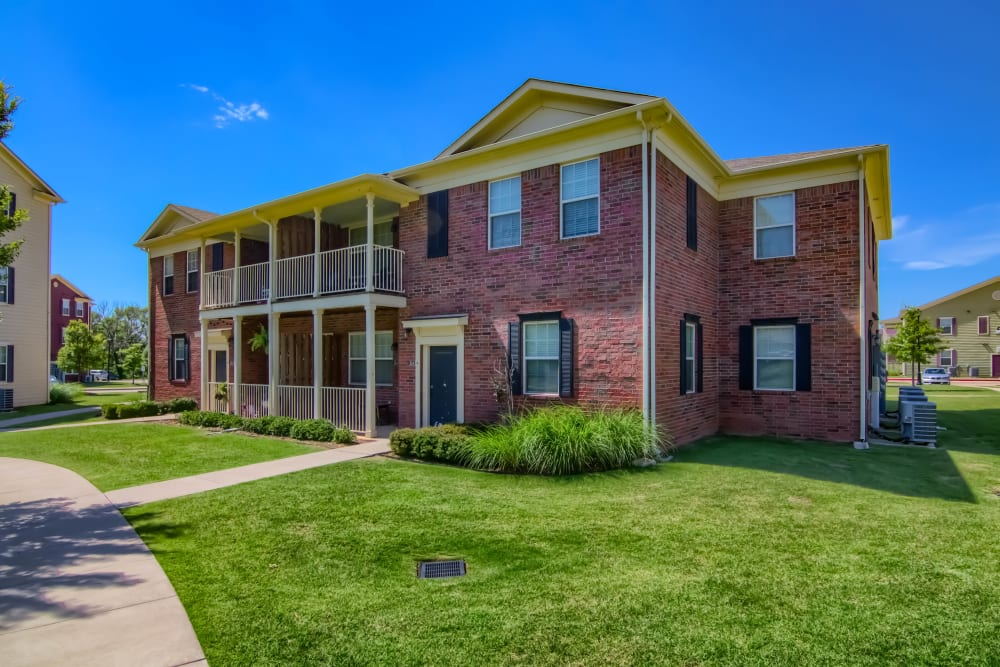Apartment buildings at Traditions at Westmoore in Oklahoma City, Oklahoma.