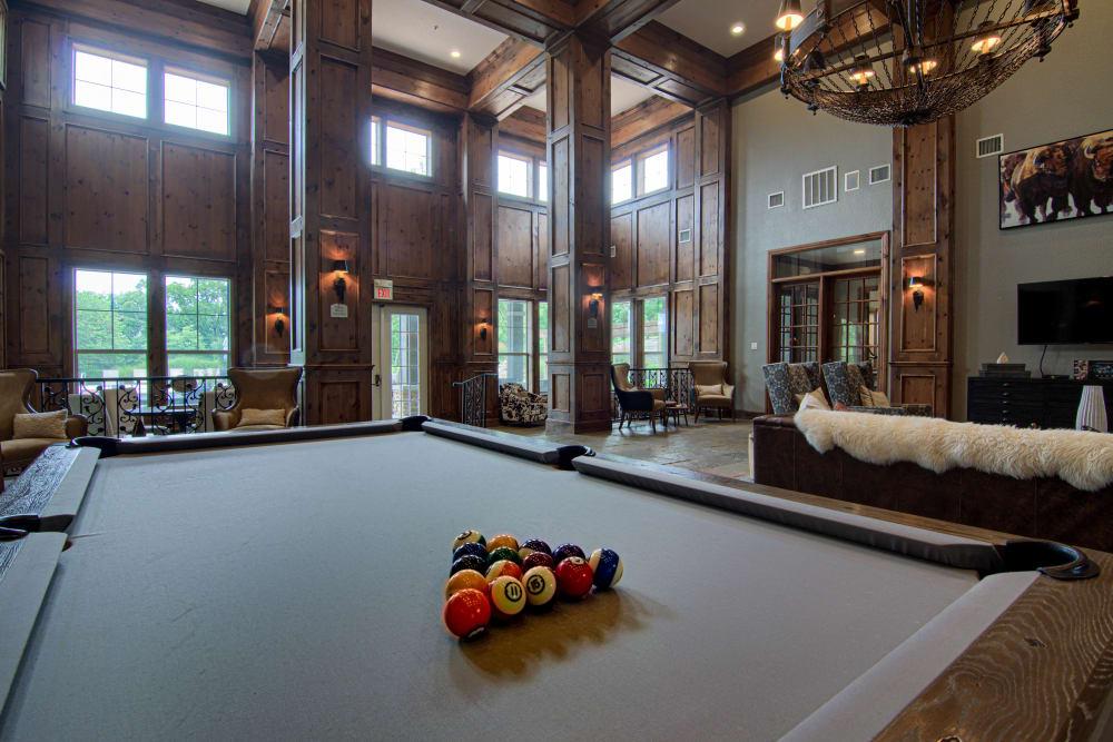 Billiards table at Vintage on Yale in Tulsa, Oklahoma