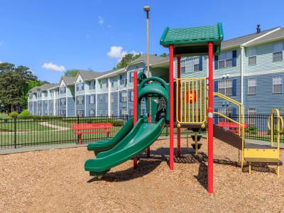Onsite children's playground at The Bentley at Marietta in Marietta, Georgia