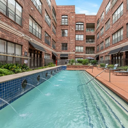 Pool at Marquis Lofts on Sabine in Houston, Texas