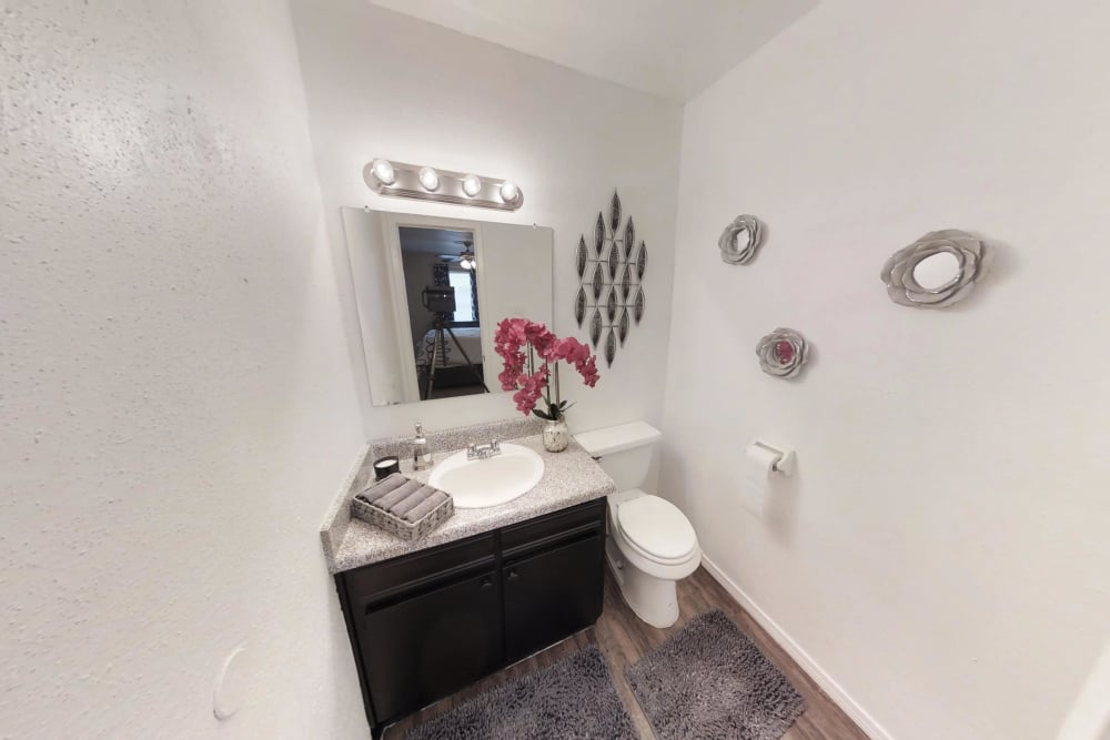 Bathroom at apartments in Pasadena, Texas