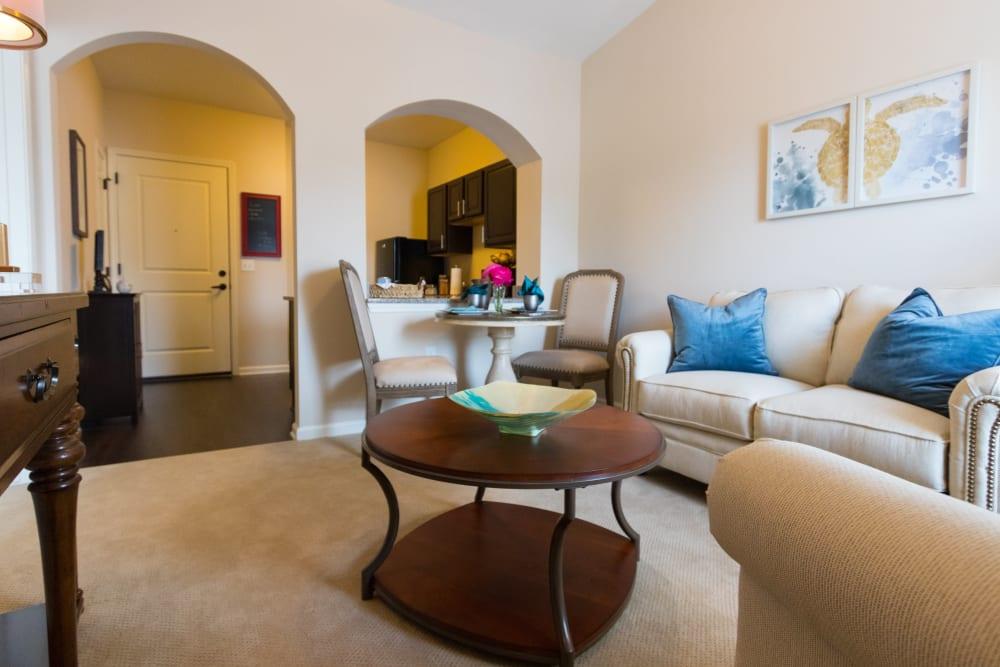 Living room at Harmony at Wescott in Summerville, South Carolina