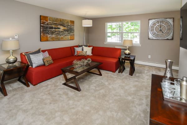 Living room at Camp Hill Apartment Homes