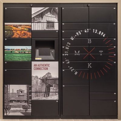 Mailbox room at Bellrock Market Station in Katy, Texas
