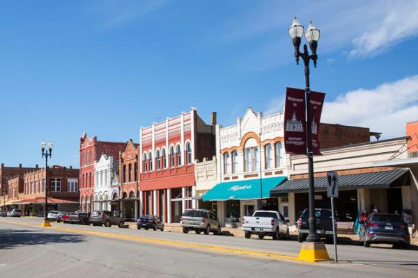 Downtown Lockhart, Texas near The Stanton