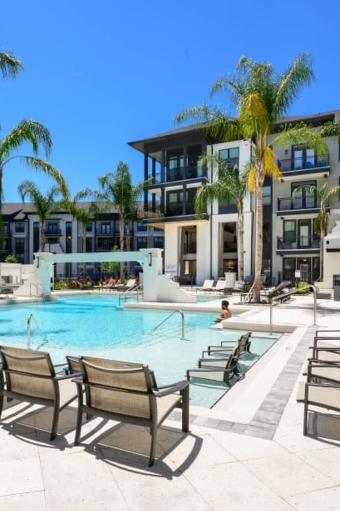 Resort-style swimming pool at The Jaxon in Jacksonville.
