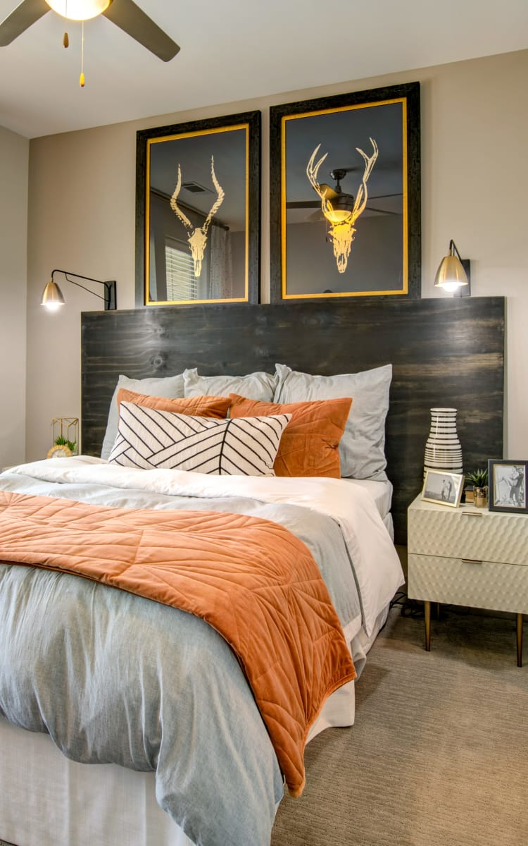 Master bedroom at The Sawyer at One Bellevue Place in Nashville, Tennessee
