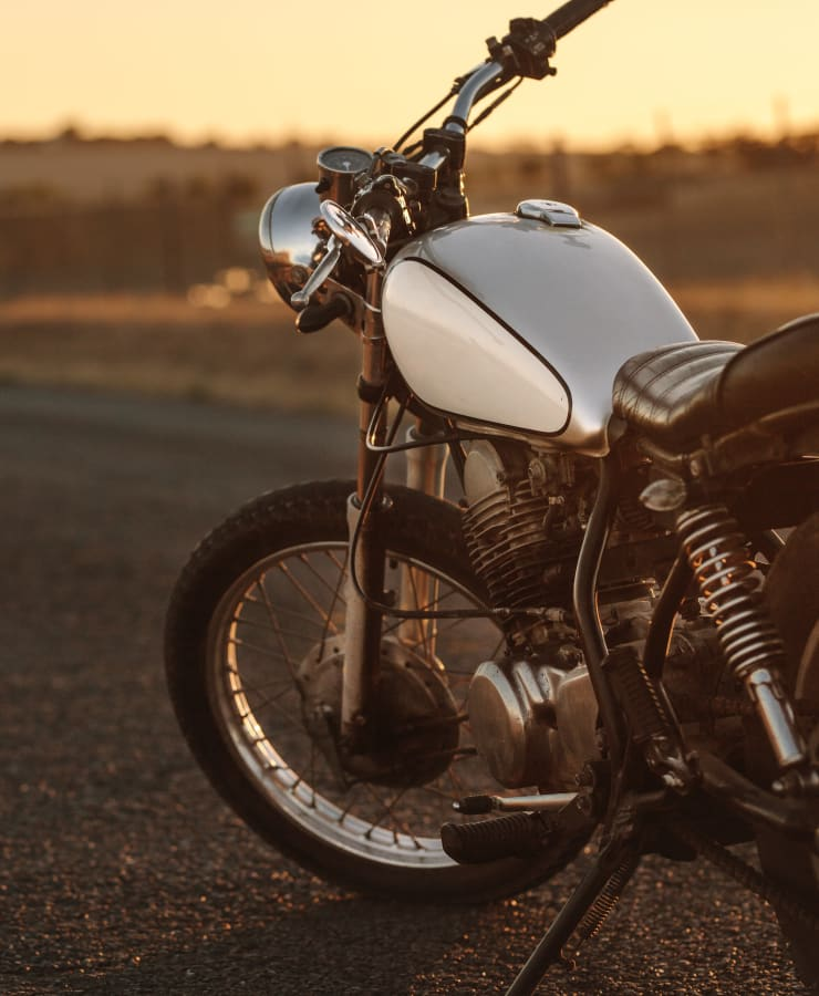 A motorcycle, on the open road, that now has room to park in a garage in Bartow, Florida