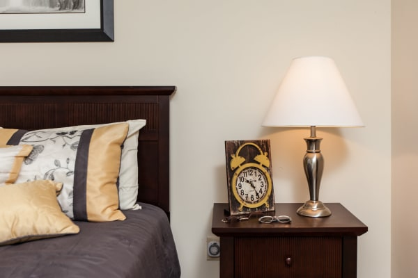 A master bedroom layout at Cross Creek Cove Apartments & Townhomes