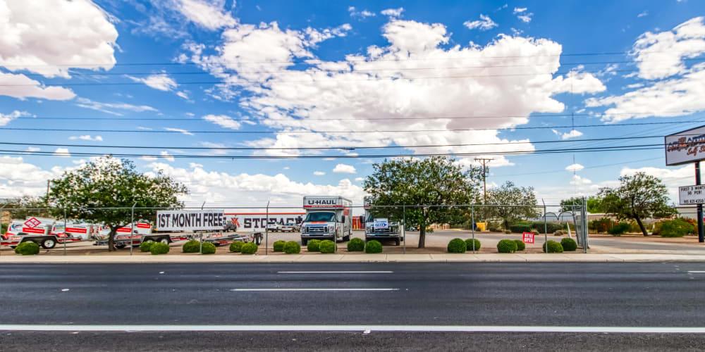 Roadside at Armadillo Self Storage in El Paso, Texas