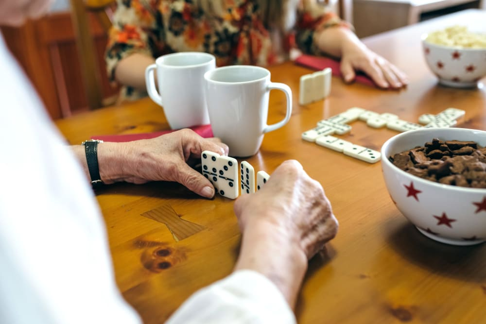 Residents playing a game at Alura By Inspired Living in Rockledge, Florida