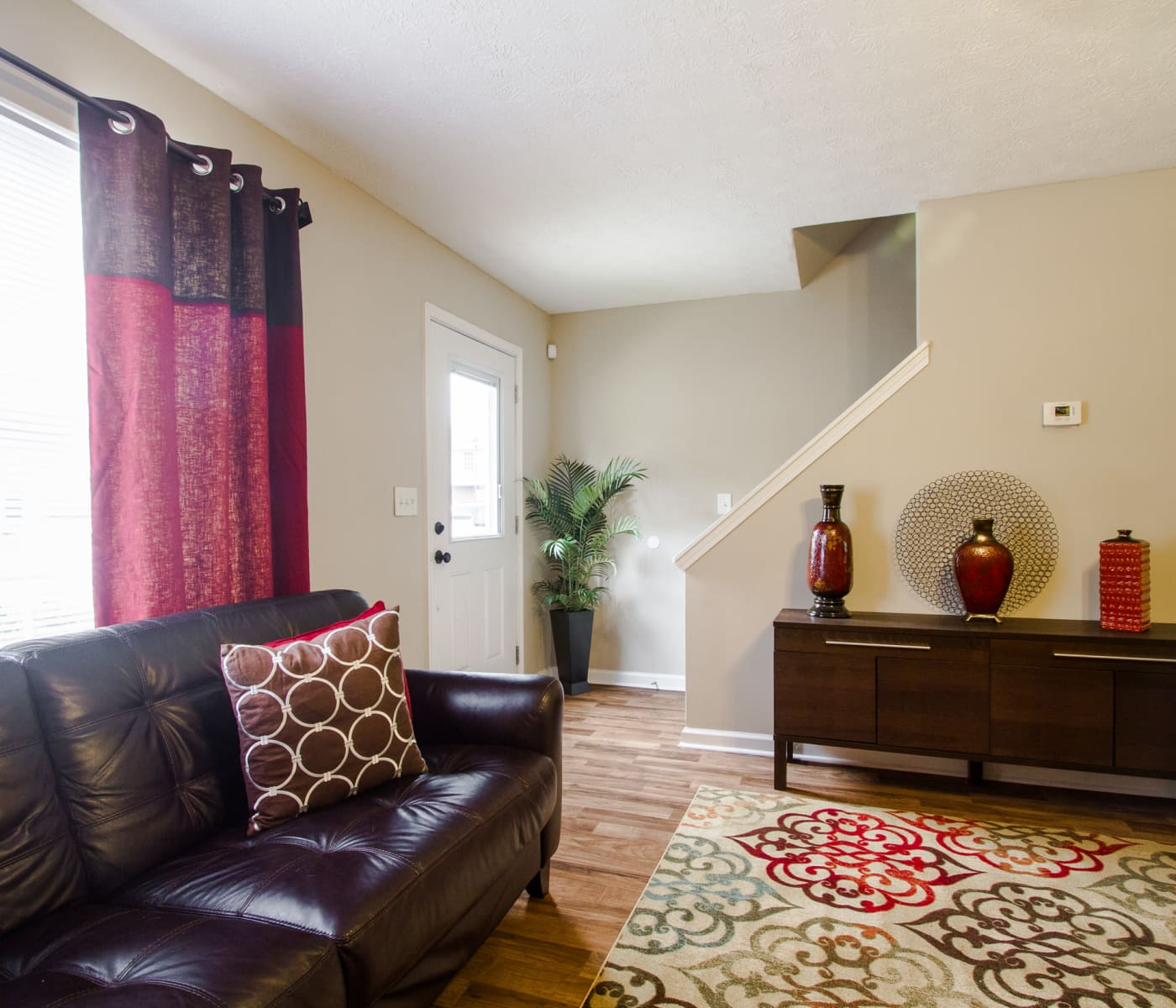 Living room at Mount Olive Townhomes in Commerce