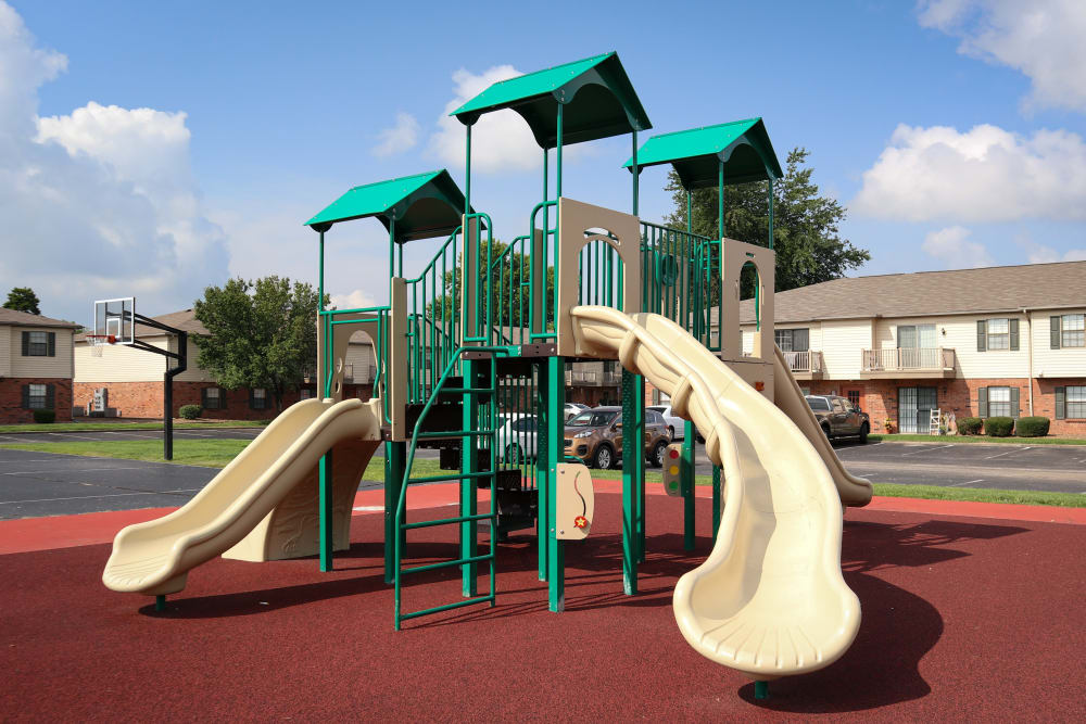 Playground at Village Green Apartments in Evansville, IN