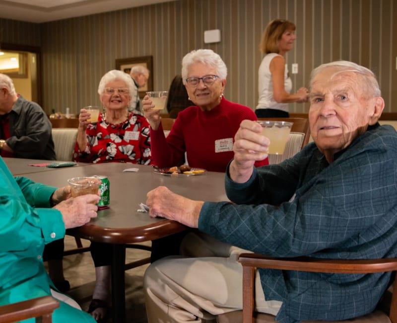 Residents enjoying a happy hour at Aurora on France in Edina, Minnesota.