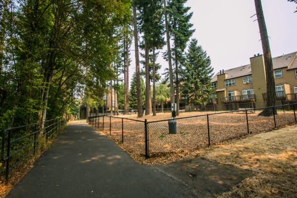Dog park at The Colonnade Luxury Townhome Rentals in Hillsboro, Oregon