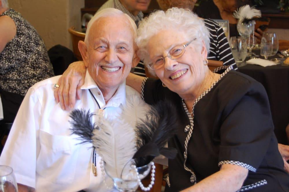Residents hugging at our senior living community in Henderson, NV
