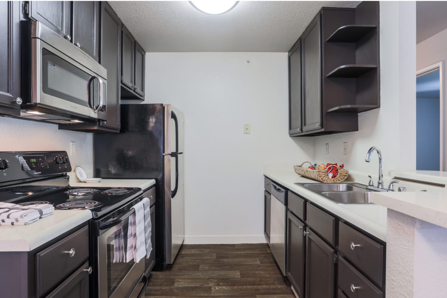 Well appointed kitchen at La Vina Apartments in Livermore, California