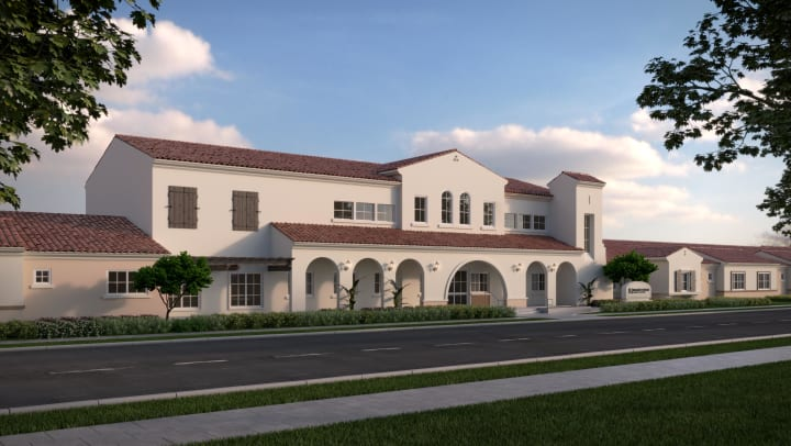Exterior rendering of Regency Palms Oxnard