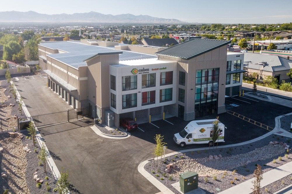 The office building at Cubes Self Storage in Draper, Utah