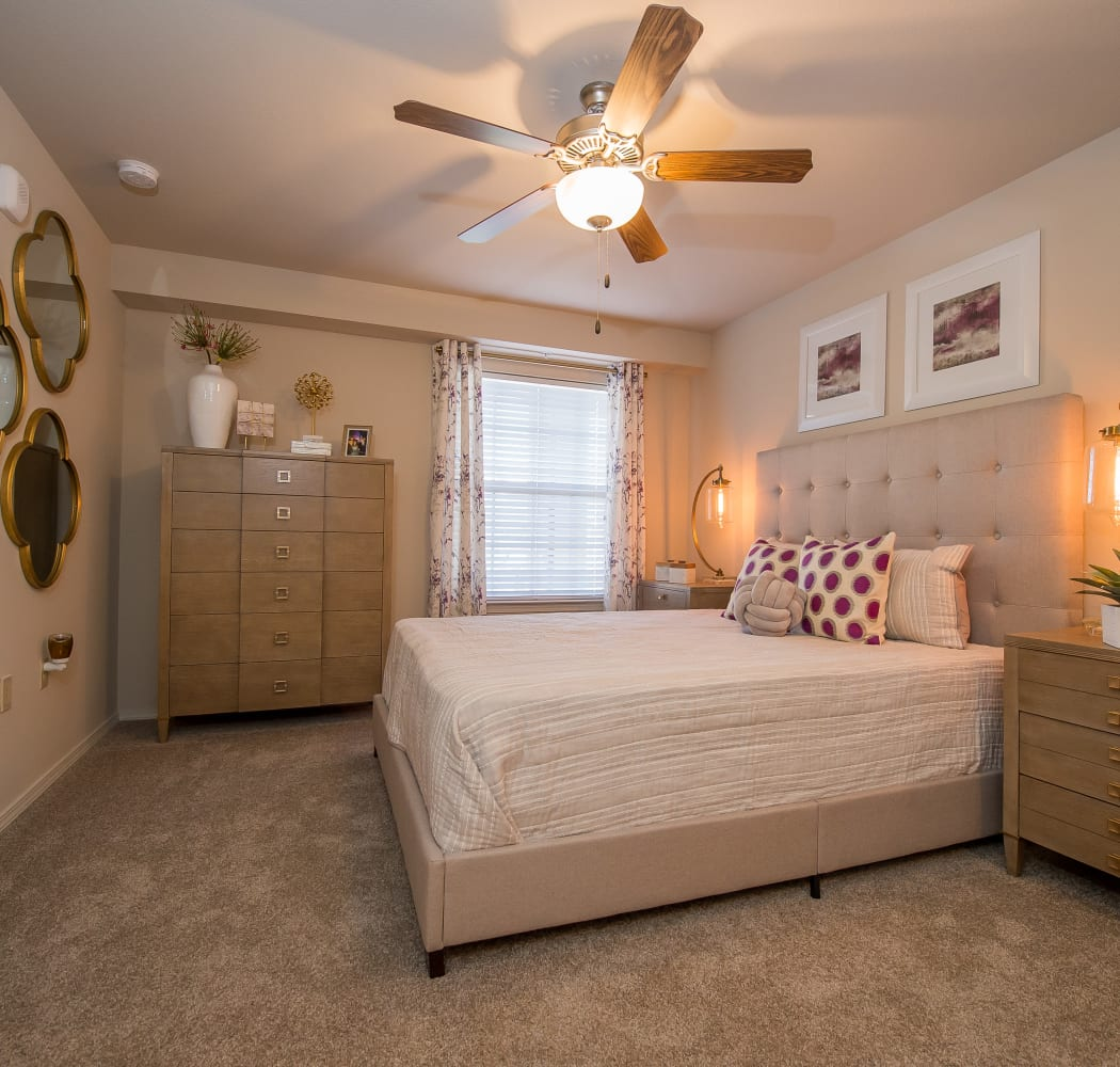 Spacious bedroom at Portico at Friars Creek Apartments in Temple, Texas