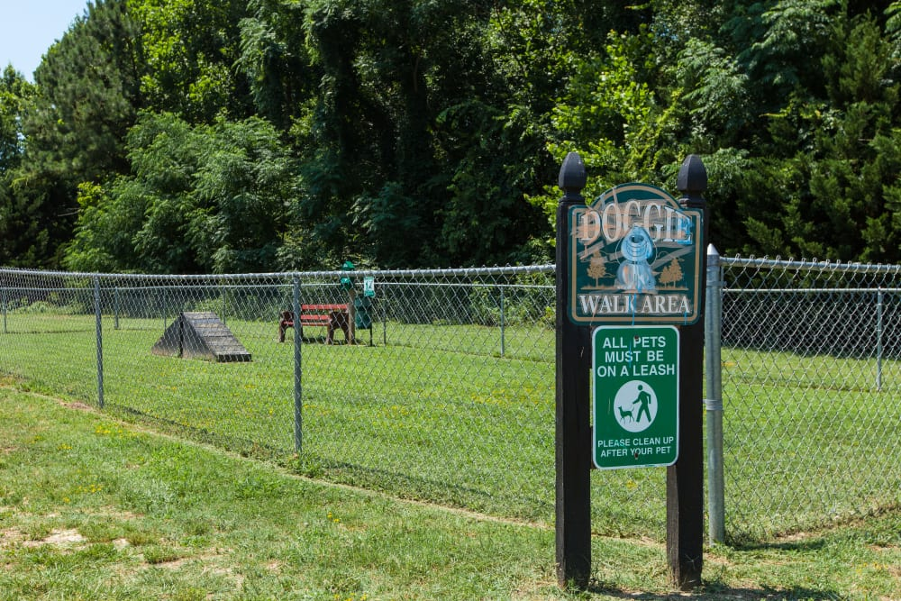 A dog park at Cross Creek Cove Apartments & Townhomes