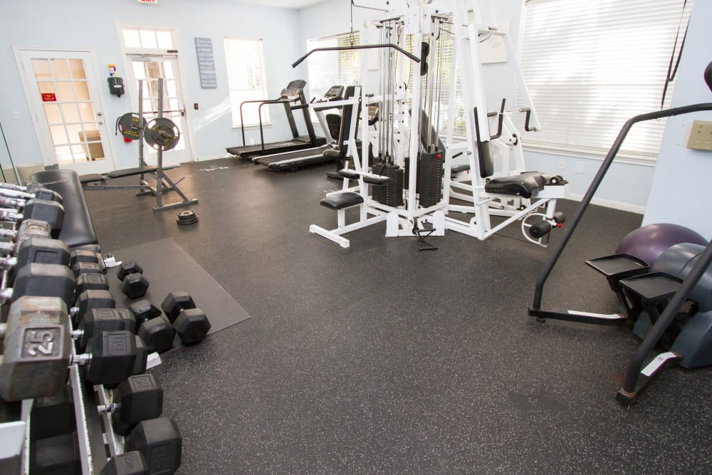 fitness center at Veranda in Texas City, Texas