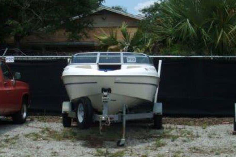 Boat storage at American Self Storage in Fort Walton Beach, Florida
