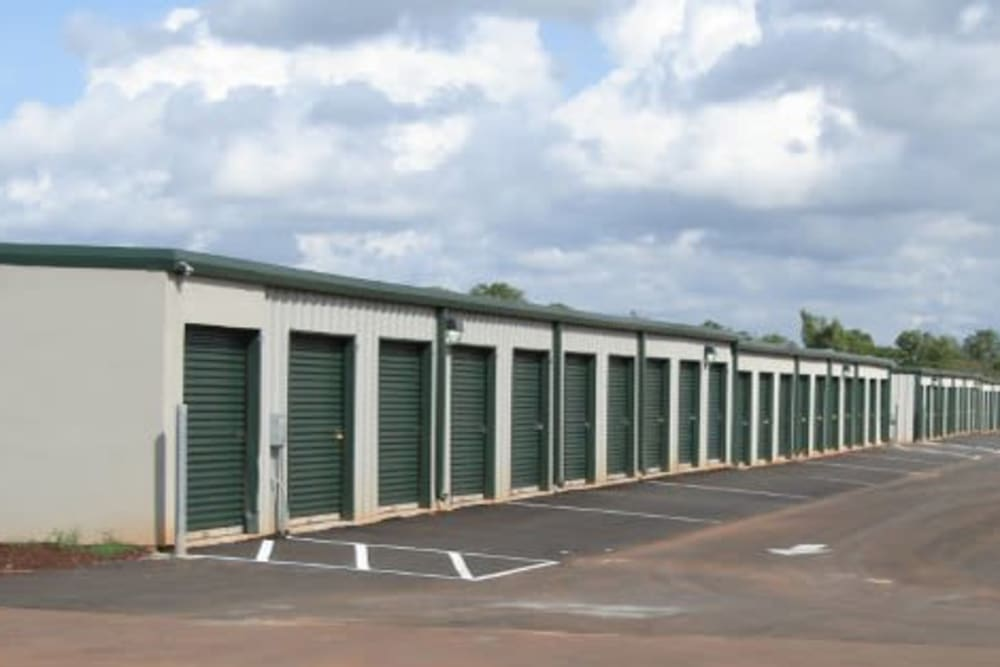 Outdoor storage units at Summerdale Self Storage in Summerdale, Alabama