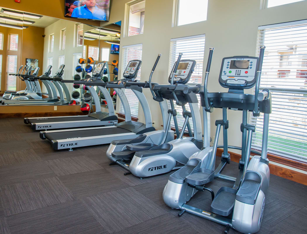 Fitness center at Icon at Norman in Norman, Oklahoma