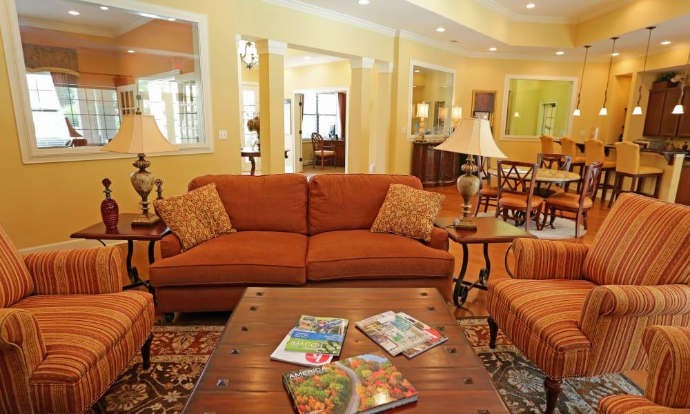 Living room in apartments in Birmingham at Cahaba Grandview