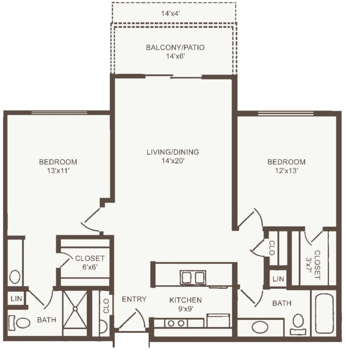 Independent Living two bedroom at The Country Club of La Cholla in Tucson, Arizona