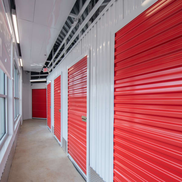 Indoor storage units at StorQuest Self Storage in Tigard, Oregon