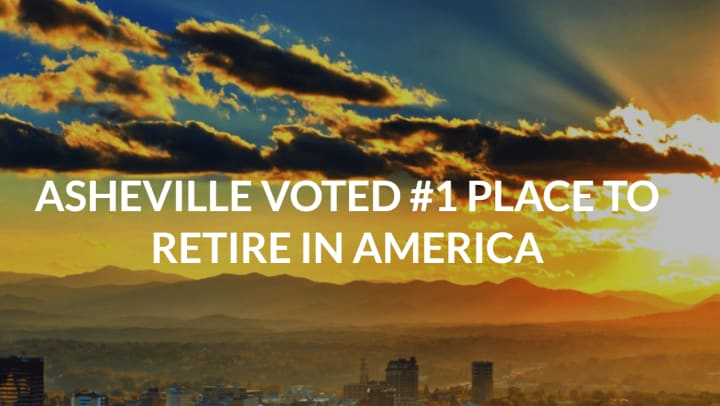 Asheville Voted #1 Place to Retire in America banner