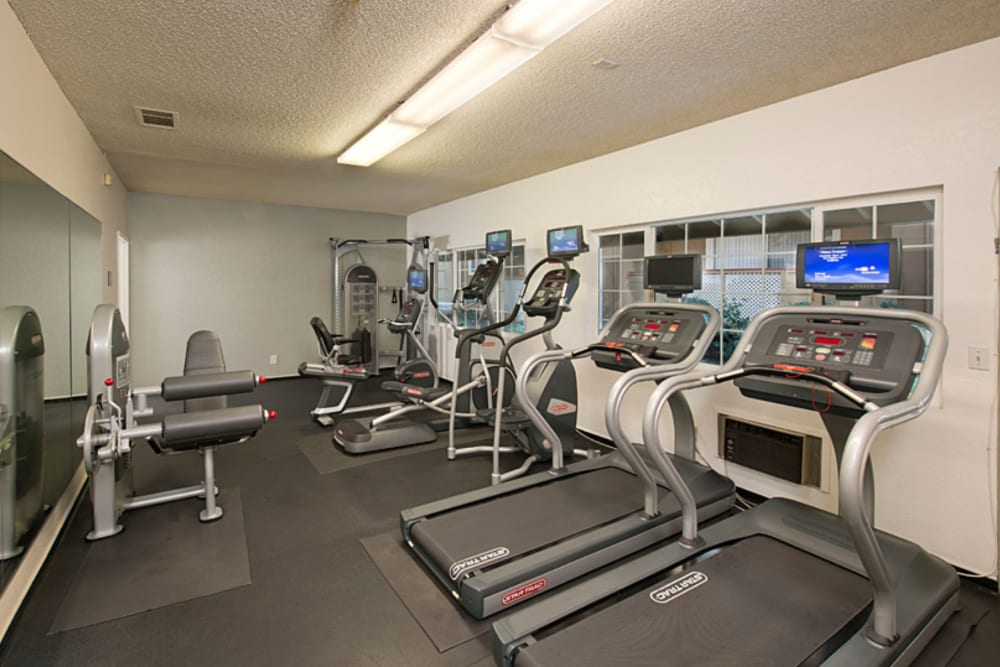 Fitness center at Shadow Oaks Apartment Homes in Cupertino, California