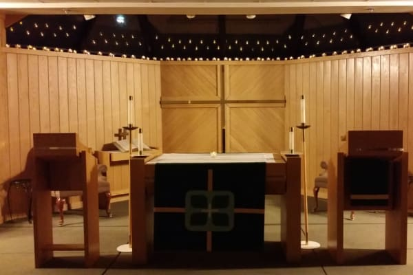 The chapel at Ebenezer Ridges Campus in Burnsville, Minnesota