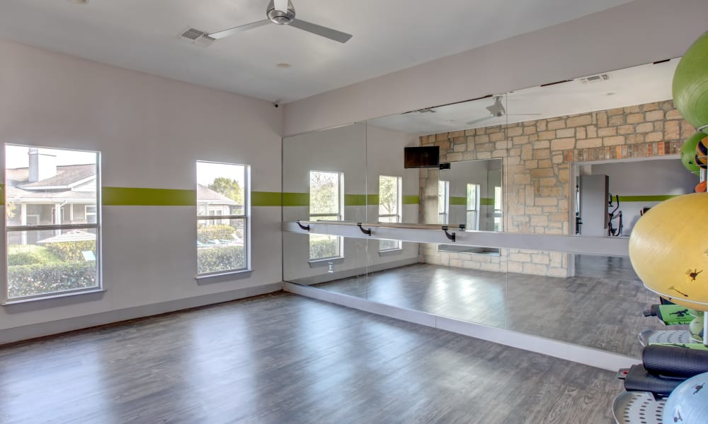 Our Apartments in Universal City, Texas offer a Yoga Studio