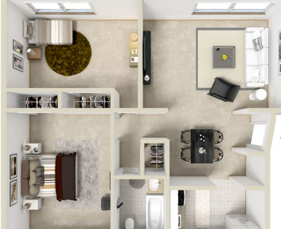 Floor Plans at Grant Village Apartments in Syracuse