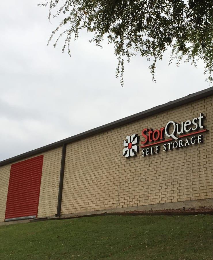 Exterior at StorQuest Self Storage in Dallas, Texas