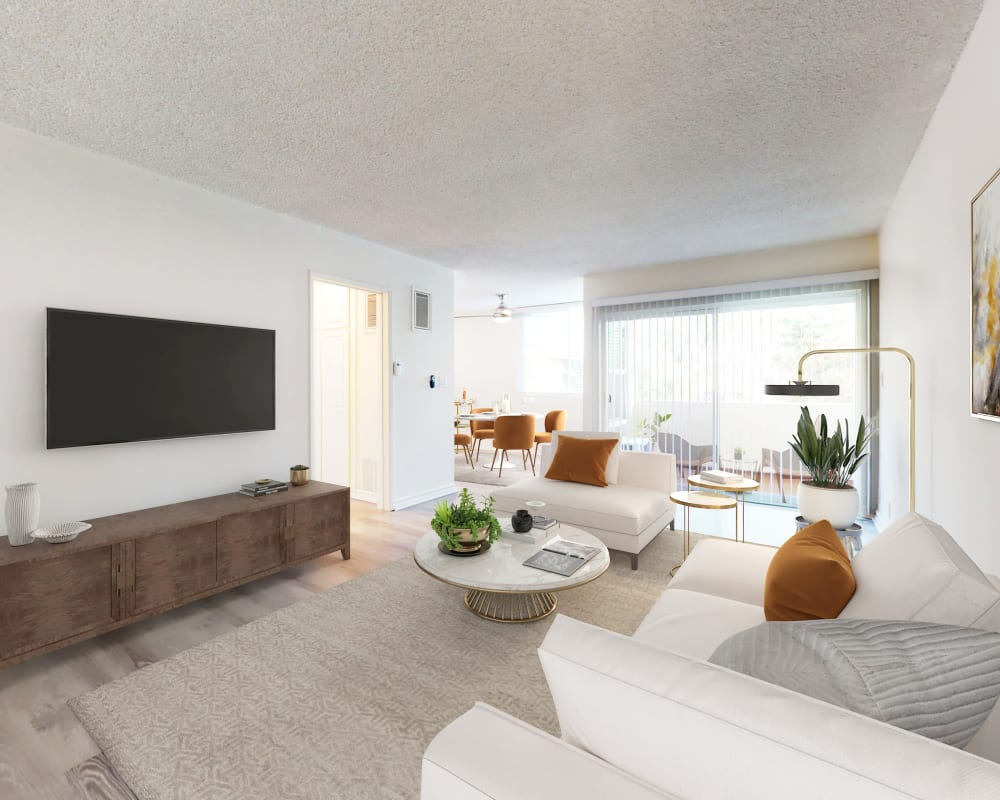 View a virtual tour of a 2 bedroom luxury home at Sunset Barrington Gardens in Los Angeles, California