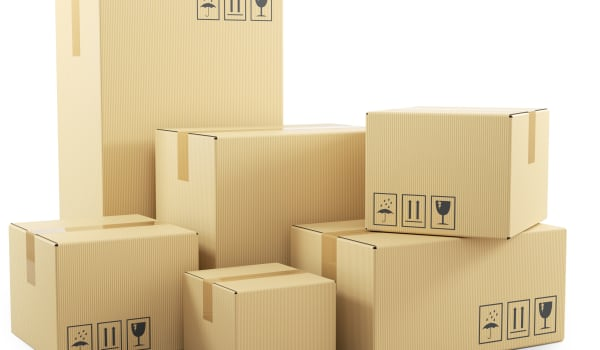Moving boxes at Security Self-Storage in Atlanta, Georgia