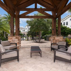 Poolside lounge at Terraces at Town Center in Jacksonville, Florida