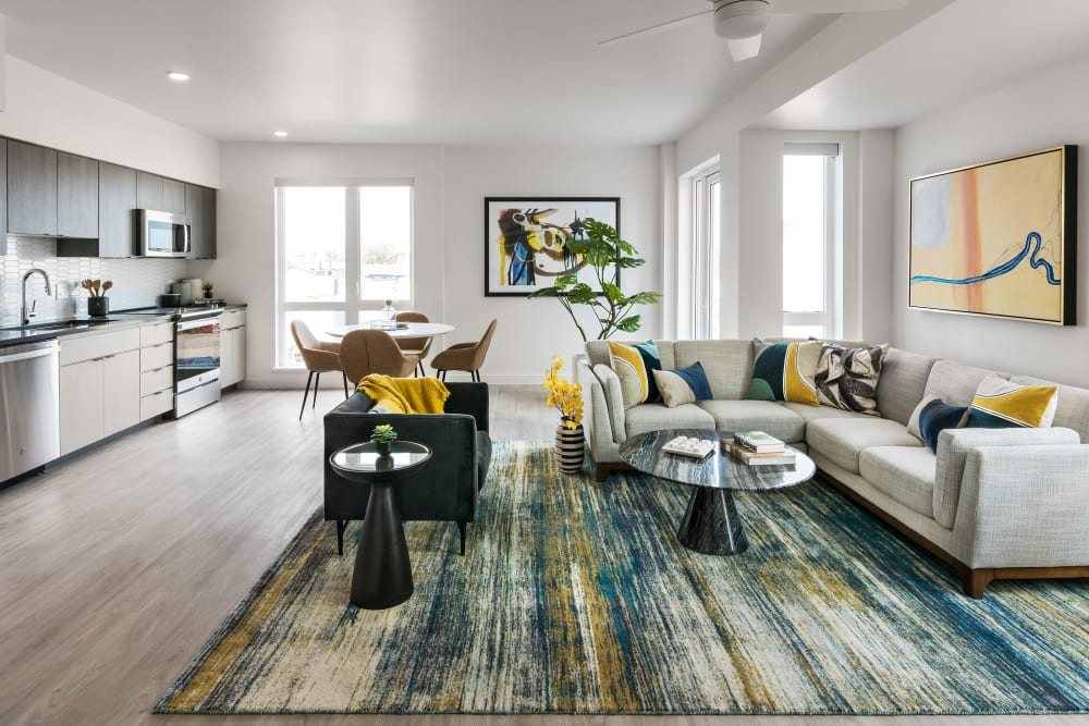 Bright and open floor plans at Hudson on Farmer in Tempe, Arizona
