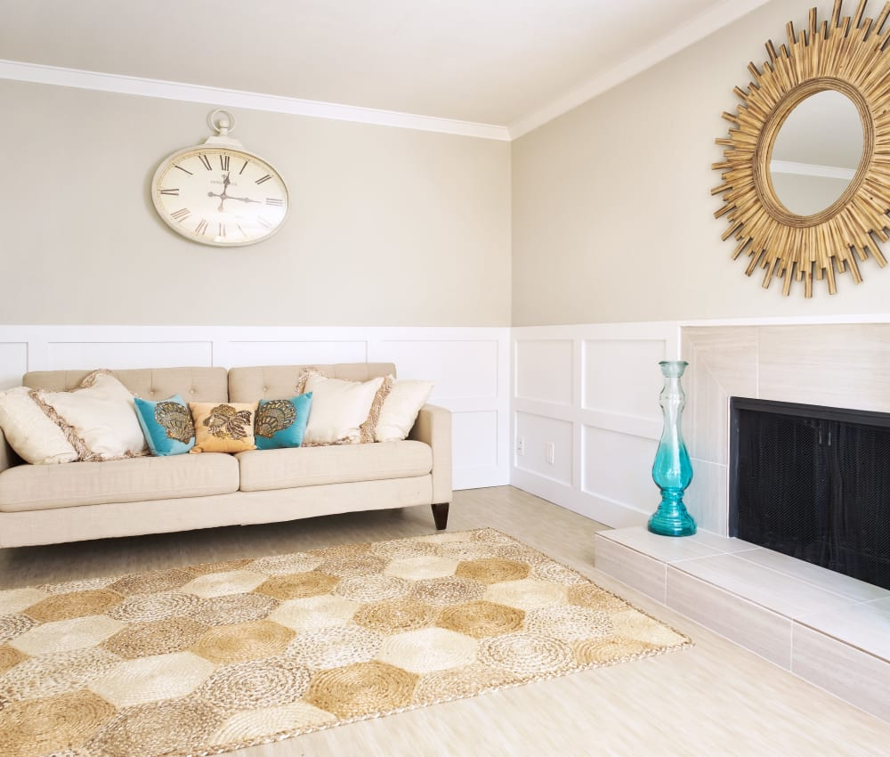 Enjoy a luxury living room at Marquee in Walnut Creek, California