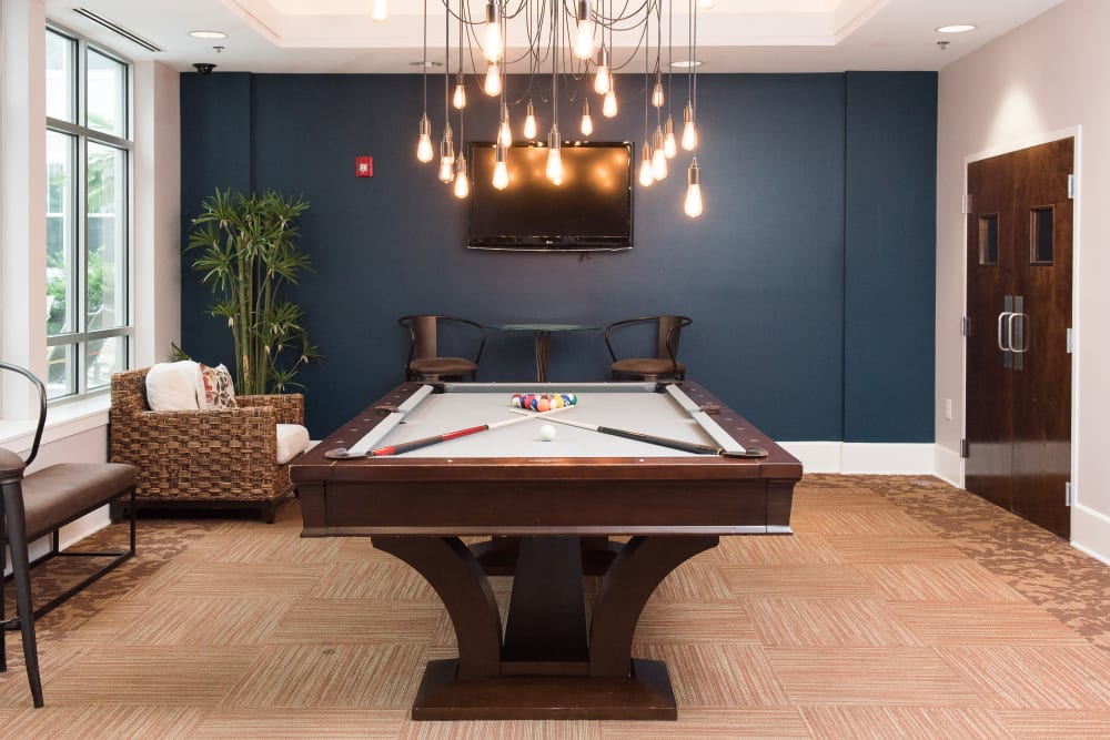 Raleigh apartments includes an entertainment space