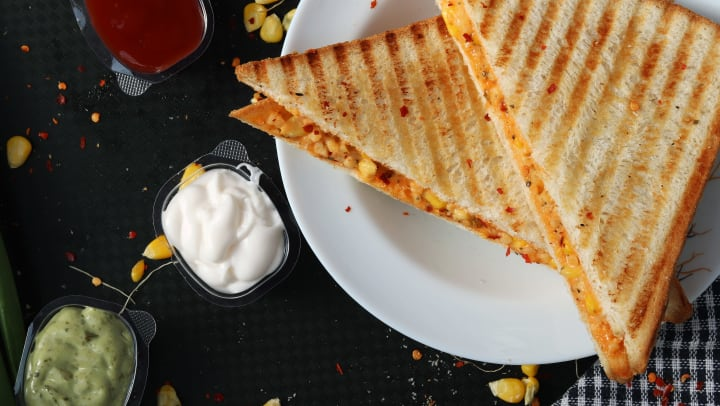 Grilled cheese sandwich served at a restaurant near Cactus Forty-2 in Phoenix, Arizona