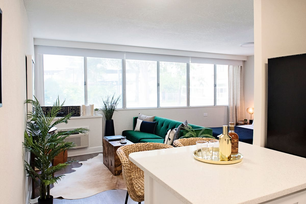 Urban Flats studio apartment kitchen