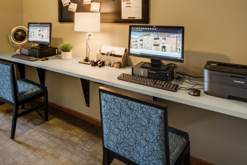 Computer for resident use at Remington Cove Apartments in Apple Valley, Minnesota