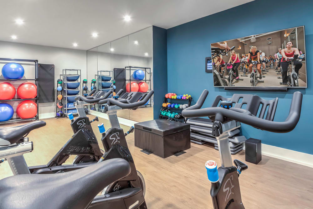 Fitness center at  in Orlando, Florida