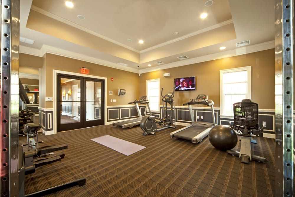 Fitness center at Presidential Place Apartments in Lebanon, New Jersey